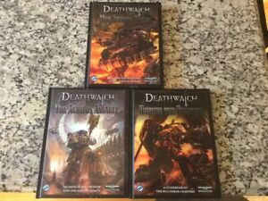 FFG Deathwatch RPG Lot 3 Books Brand New Hardcovers Warhammer 40k Roleplaying