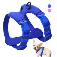 Suede Leather Pet Cat Dog Vest Harness Adjustable for Chihuahua Yorkie Pink Blue