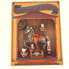 New ListingA Carousel of Seasons Sharon Furner Folk Art Decorative Painting Tole Book Xmas