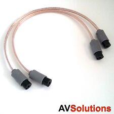0.37 m. - Lautsprecherkabel Adapter (2-Pin Sockets, Paar, SHQ) für Bang & Olufsen b&o