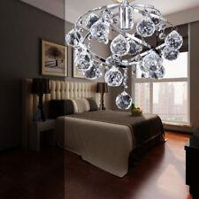 Elégant Lustre Cristal Giratoire Plafonnier Contemporain Lampe Chromé Spirale DE