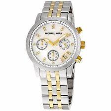 Michael Kors Ritz Chrono Two Tone Bracelet MOP Dial Ladies Watch MK5057