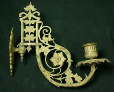 Vintage Victorian Style Ornate Brass Candle Sconce