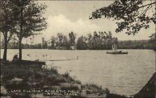 Athol MA Lake Ellis Swimming Dock Postcard
