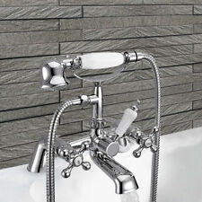 Traditional Chrome Victorian Style Basin Bath Filler Shower Mixer Tap Cross Taps