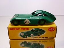 DINKY TOYS 163 BRISTOL 450 SPORTS COUPÉ #27 - GREEN 1:43 - EXCELLENT IN BOX
