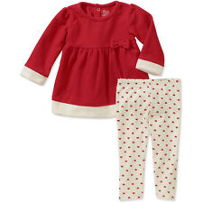 NEW Girls Carter's Christmas or Valentines Day Fleece Top Legging Set 3-6 Months