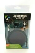 Quo Mobility Anti-tangle Earbuds Extra-soft Silicone Ear Compact Comfort 3.5mm