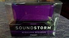 NEW!! iWorld, Purple speaker, Sound Storm Wireless Speaker Bluetooth BSM-1080