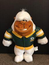 "9"" White Gorilla Green Bay Packers Football Jacket Plush Stuffed Animal NFL Ape"