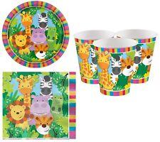 infantil Animal Amigos Celebración Cumpleaños Papel Fiesta 36 piezas Vajilla