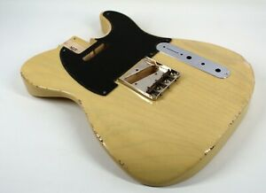 MJT Official Custom Vintage Age Nitro Guitar Body By Mark Jenny VTT Butterscotch