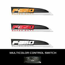 RECON 264286CH Ford LED F-350 2011-2016 White-Red-Amber Emblems Illuminated Side