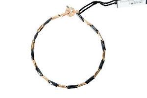 BARAKA Men's BR221101ROCN210002 Rose Gold Ceramic White Diamonds Bracelet