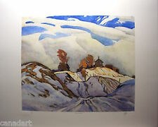 A.J.CASSON group of seven SIGNED KING SIDE ROAD LE art numbered Platinum edition