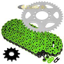 Green O-Ring Drive Chain & Sprockets Kit Fits SUZUKI LT230S QuadSport 230 85-88