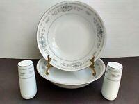 Fine Porcelain China Diane 2 Salad Bowls & Salt and Pepper Shakers Japan