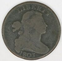 1803 Draped Bust Large Cent. Small Date, Large Fraction. RAW4357/LH