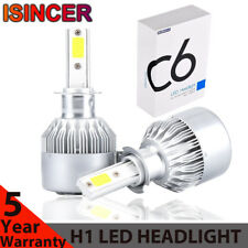 1x H1 LED Headlight Conversion 120W 198000LM Hi-Low Beam Bulbs 6000K Fog Light