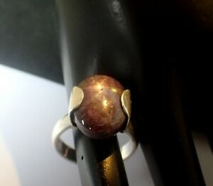 Natural Star Ruby Gemstone Handmade Jewelry 925 Sterling Silver Ring Size 7.75
