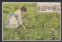 41277) Schöne Präge Litho AK Fröhliche Pfingsten 1902 Friedland b. Mistek