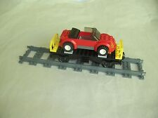 Lego CITY TRAIN: FLATBED RAILCAR & CONVERTIBLE CAR...VG