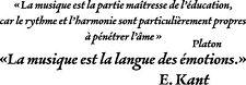 Sticker Citations sur la Musique - 57x20 cm