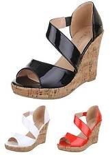Elegante Markenlose Normale-Weite-(E) Damen-Sandalen & -Badeschuhe aus Kunstleder