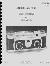 Graflex Stereo Graphic Camera Service & Repair Manual Reprint