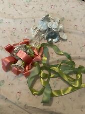 Vintage wrapping paper Bridal Shower Wedding Corsage Bow Ribbon Bells Shabby