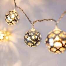 16er LED Kugel Lichterkette Silber 24 Volt innen 5m DEKO Beleuchtung Lights4fun
