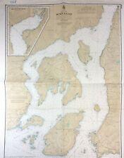 Vtg 1973 HOWE SOUND Horseshoe Bay VANCOUVER BC Nautical Chart Canada MAP Boat