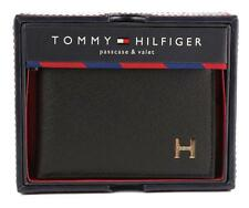 NEW TOMMY HILFIGER MEN'S LEATHER CREDIT CARD ID WALLET BILLFOLD BLACK 31TL22X019