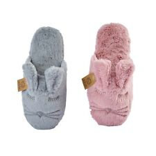 LADIES WOMENS WINTER WARM RABBIT COSY CUTE MULE SLIP ON SLIPPERS MULES SHOES
