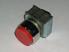SIEMENS, RED EXTENDED HEAD PUSHBUTTON, 3SB3500-0BA21, LOT OF 5