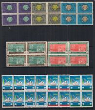 KUWAIT- UNMOUNTED MINT SETS IN BLOCKS OF 4.20 SETS.VERY NICE LOT.