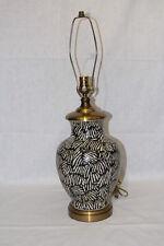 Maitland-Smith Black and White Ceramic Zebra Lamp, Rare piece