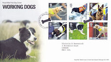 5 FEBRUARY 2008 WORKING DOGS ROYAL MAIL FIRST DAY COVER HOUND GREEN SHS (a)