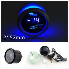 "2"" 52mm 12V de superficie Negro Azul LED Coche SUV Digital Medidor Psi Turbo Boost Gauge"