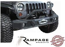 Rampage Front Trailguard Bumper w/ Built In Winch Plate 07-17 Jeep Wrangler JK