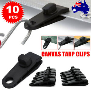 10 Pack Heavy Duty Awning Tarp Clips Clamps For Camping Canopies Tents Canvas
