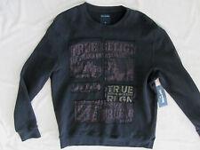 True Religion Pullover Crewneck Buddha Sweatshirt-Used Black -Men's L- NWT $159