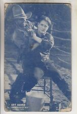 CIRCA 1920s-40s ARCADE MOVIE PICTURE CARD - ART ACORD IN THE SCAPPIN KID