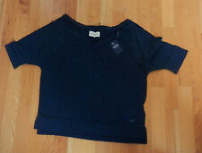 NWT Hollister Pearl Street Tee Easy Fit Small Navy By Abercrombie