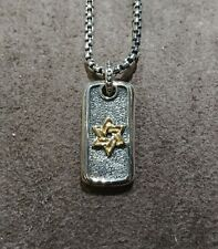 Scott Kay Sterling Silver And Yellow Gold Star Of David Charm Model # GN2011TPM3