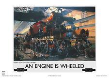 Derby vintage moteur de chemin de fer de voyage Poster Art Print Cuneo Publicité