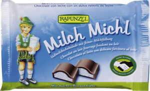 CHOCOLATE WITH MILK FILLING FOR CHILDREN BIO 100 g - RAPUNZEL