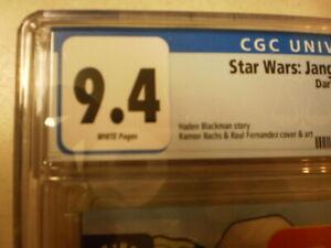 STAR WARS JANGO FETT OPEN SEASONS 4 CGC 9.4 POSSIBLE DISNEY+ SERIES