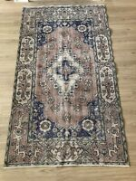 """Turkish Oushak Wool Area Rug, Vintage Hand Knotted, 6'8""""x 3'10"""", FREE SHIPPING!"""