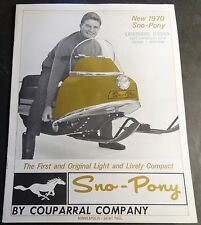 VINTAGE 1970 SNO-PONY SNOWMOBILE SALES BROCHURE 8 PAGES NICE (858)